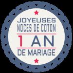 1 an de mariage : noces de coton