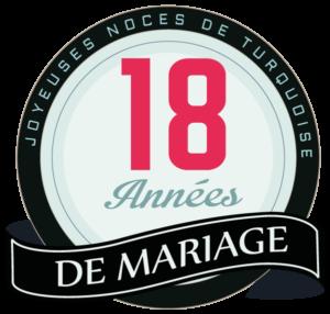 Joyeuses noces de turquoise pour votre 18e année de mariage