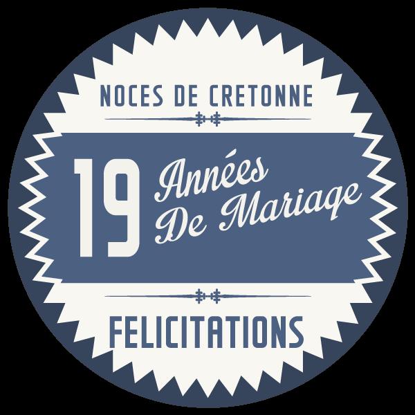 19 Ans De Mariage Noces De Cretonne Symbole Idées