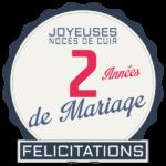 2 ans de mariage : Noces de cuir