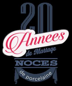 Joyeuses noces de porcelaine pour votre 20e année de mariage