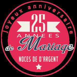 25 années de mariage : Noces d'argent