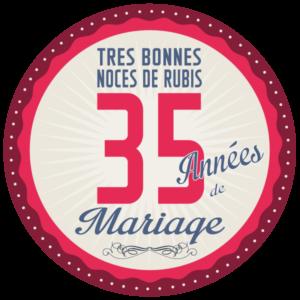 35 ans de Mariage → Noces de Rubis : symbole & idées Cadeaux
