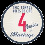 Noces de cire pour vos 4 ans de mariage