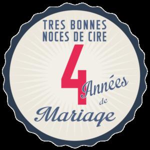 Joyeuses noces de Cire pour votre 4e année de mariage