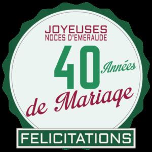 40 Ans De Mariage Noces D Emeraude Symbole Idees