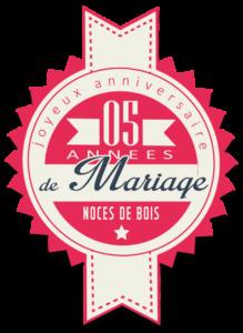 Joyeuses noces de Bois pour votre 5e année de mariage