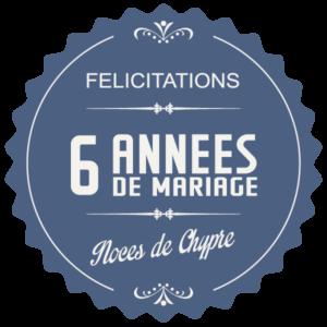 Joyeuses noces de Chypre pour votre 6e année de mariage