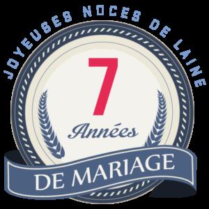 Joyeuses noces de Laine pour votre 7e année de mariage