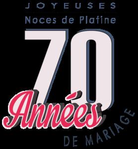 Joyeuses noces de Platine pour votre 70e année de mariage