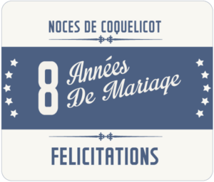 8 Ans De Mariage Noces De Coquelicot Symbole Idées