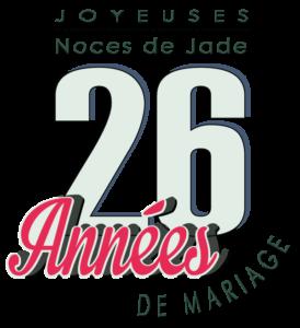 26 années de mariage : Noces de Jade