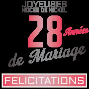 Noces de Nickel pour 28 années de mariage