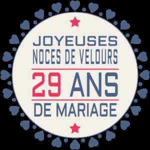29 années de mariages : Joyeuses noces de velours