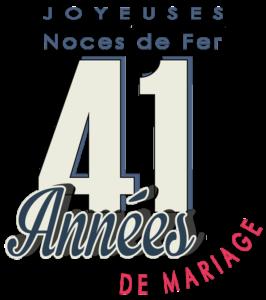 41 ans de mariage : noces de fer
