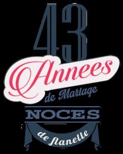 43 années de mariage : noces de flanelle