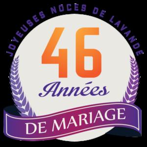 46 ans de mariage : noces de lavande