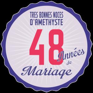 Noces d'améthyste : 48 ans de mariage