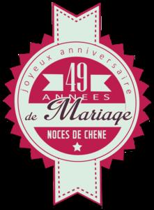 49 années de mariage : noces de chêne