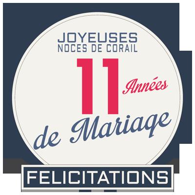 Joyeuses noces de Corail pour votre 11e année de mariage
