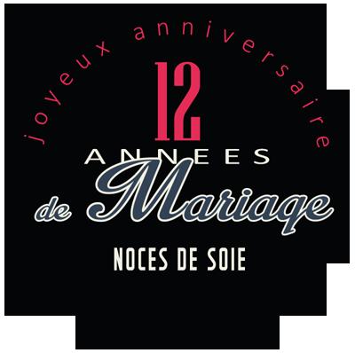Joyeuses noces de Soie pour votre 12e année de mariage
