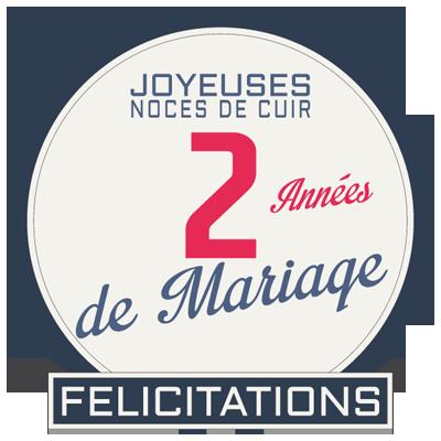 Joyeuses noces de Cuir pour votre 2e année de mariage