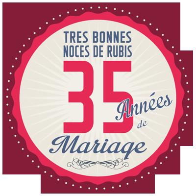 cadeau 35 ans mariage