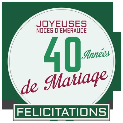 40 ans de mariage noces d 39 meraude symbole id es for Decoration 40 ans de mariage