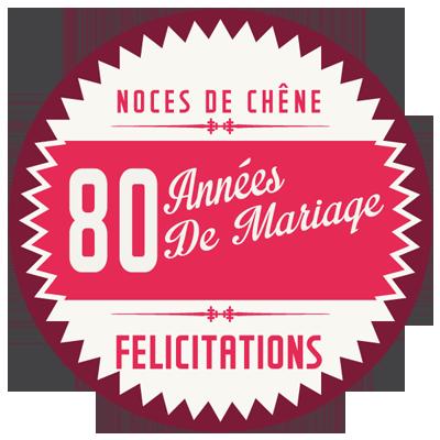 Joyeuses noces de Chêne pour votre 80e année de mariage